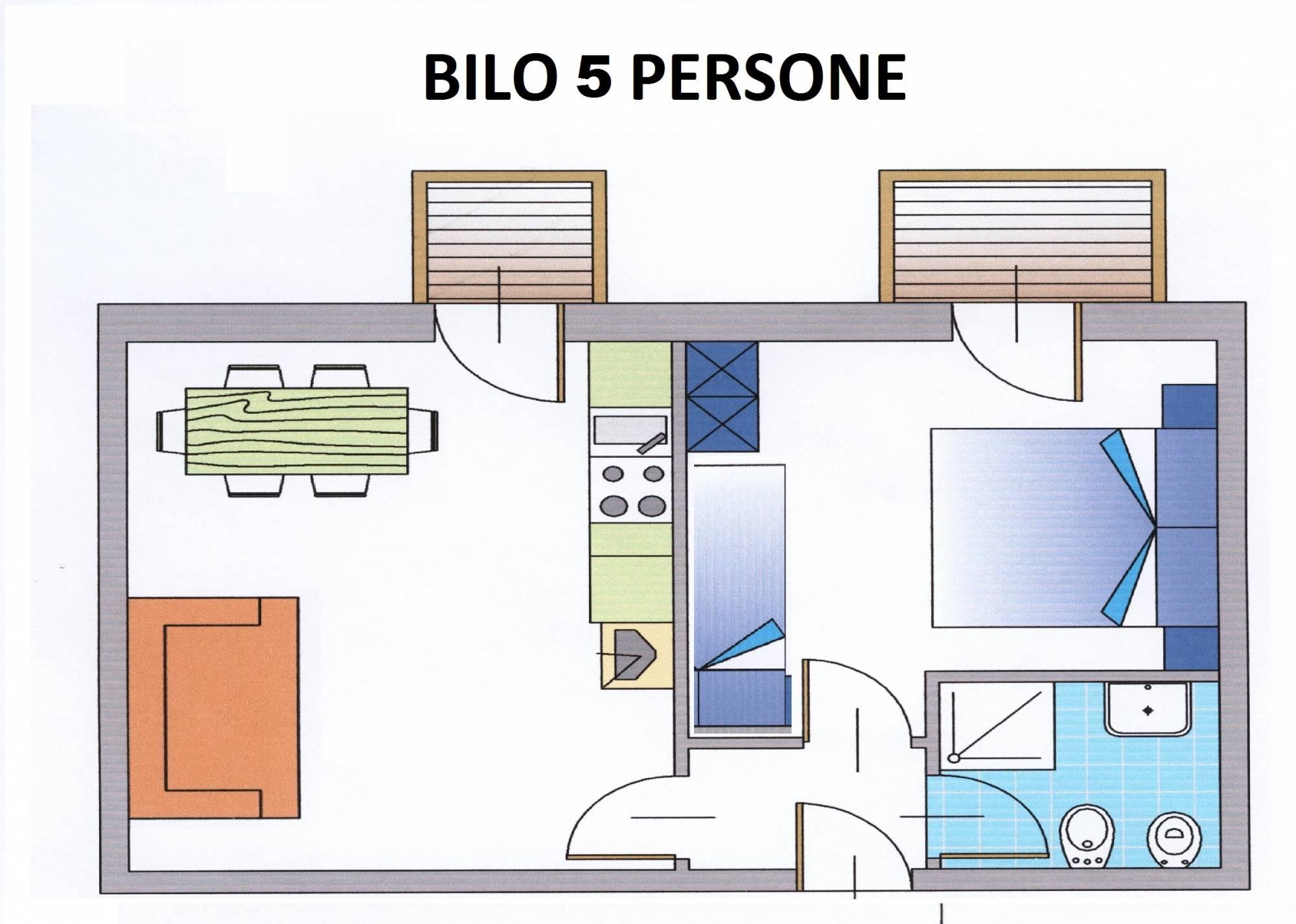 Apartament 2-pokojowy dla 5 osób