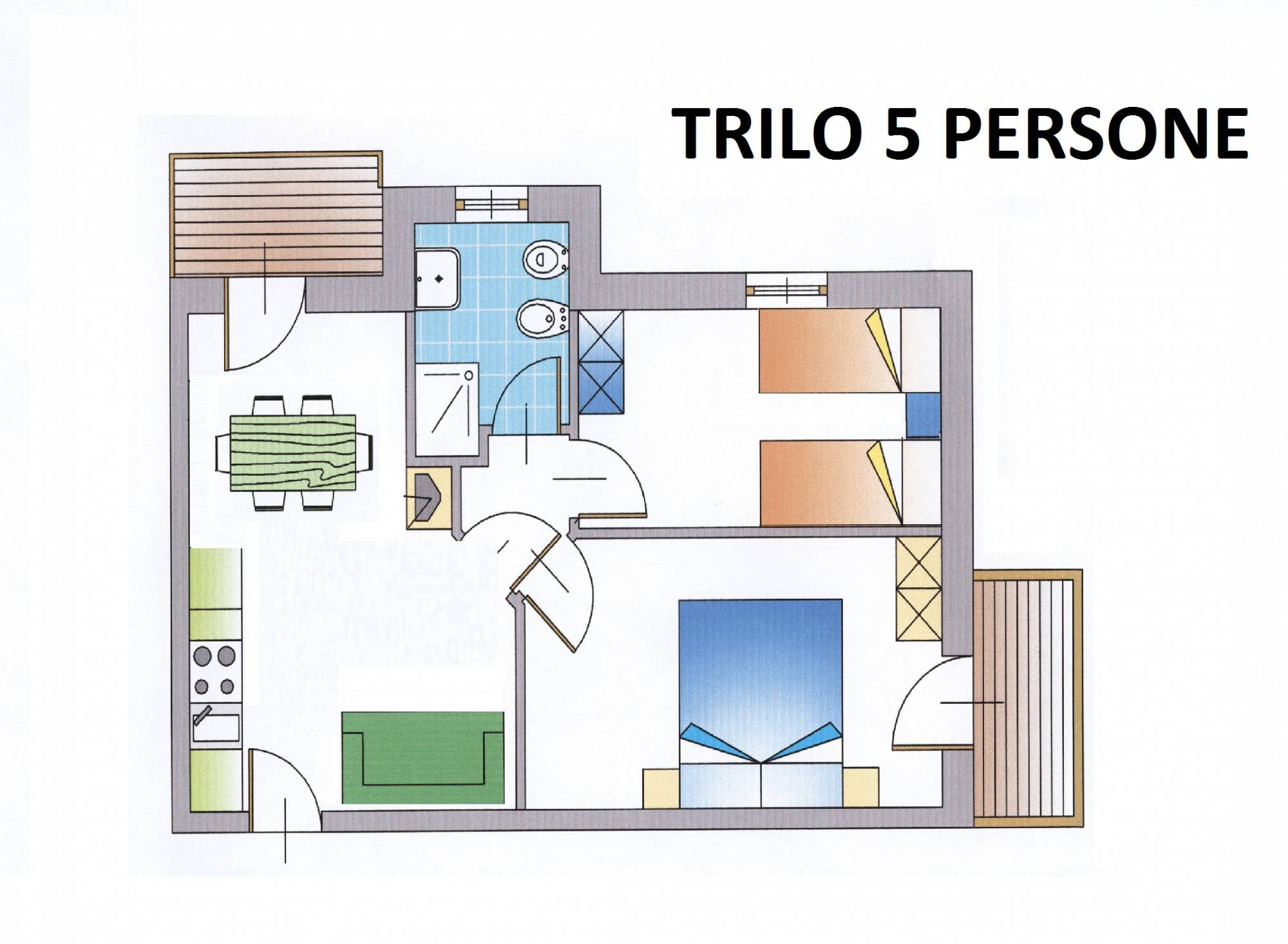 Apartament 3-pokojowy dla 6 osób